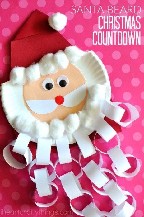 santa-christmas-countdown-craft