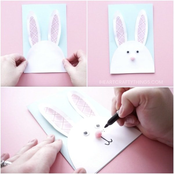 Diy Bunny Easter Card 6 I Heart Crafty Things