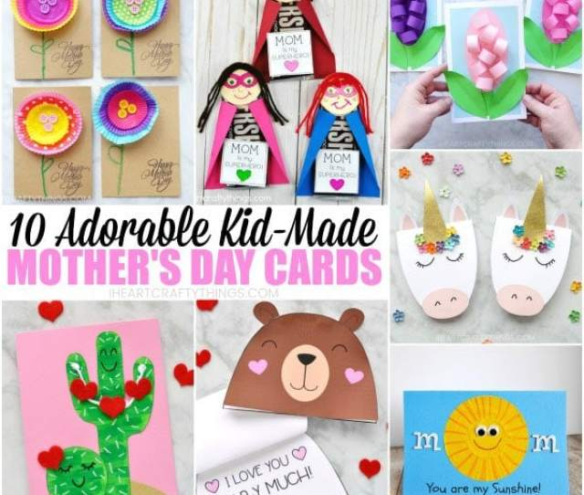Adorable Mothers Day Card Ideas Kids Can Make