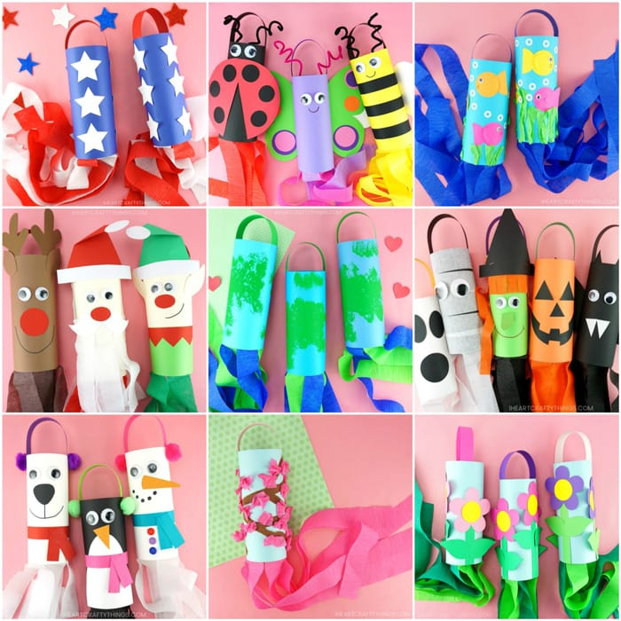 Diy Windsock Crafts For Kids Ideas For Holidays And Seasons All Year