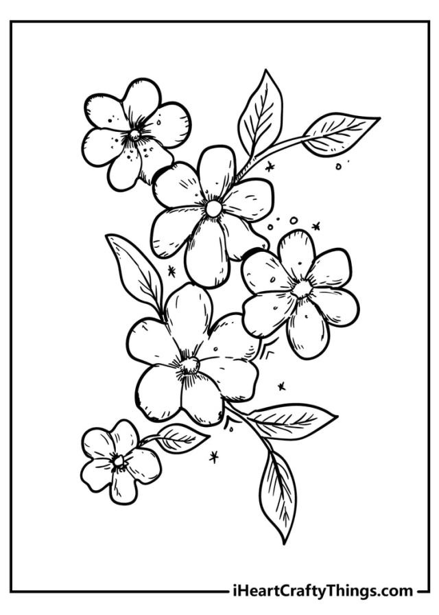 New Beautiful Flower Coloring Pages - 16% Unique (16)
