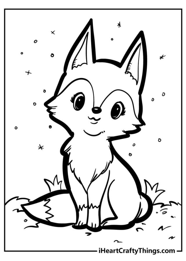 17 Brand New Fantastic Fox Coloring Pages