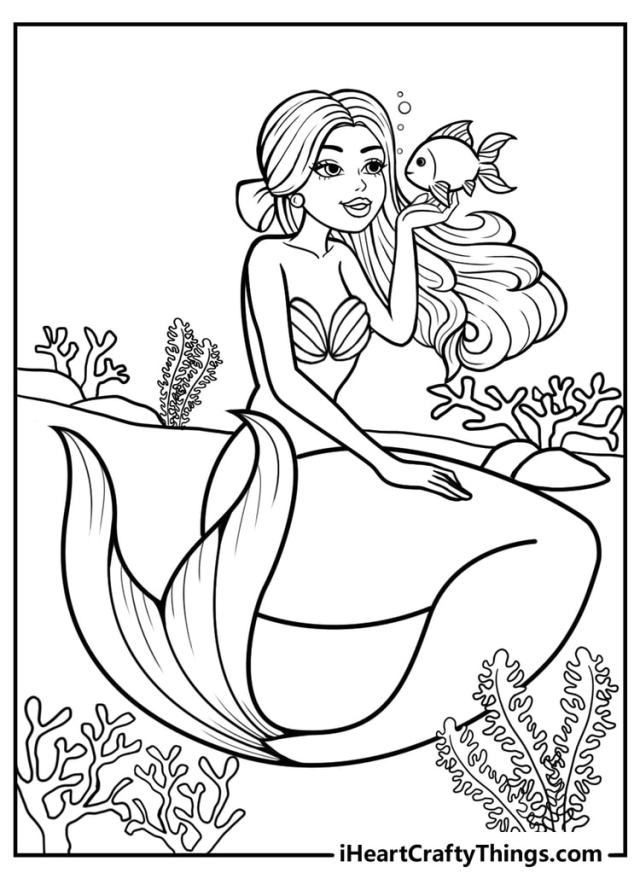 Mermaid Coloring Pages - 28 Magical Designs 28% Free (28)