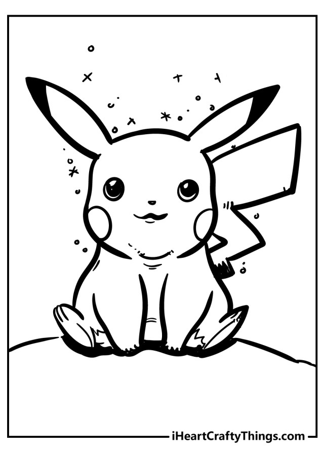 10 Powerful Pikachu Coloring Pages