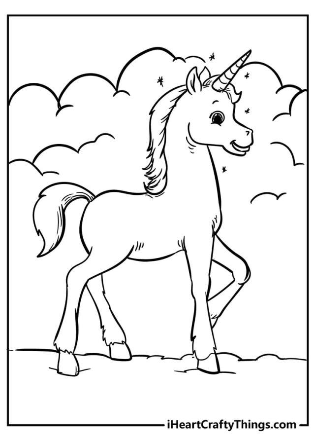 Unicorn Coloring Pages - 16 Magical Unique Designs (16)