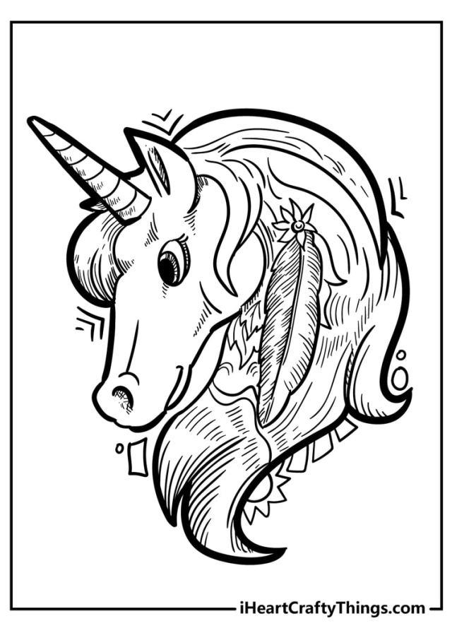 Unicorn Coloring Pages - 11 Magical Unique Designs (11)