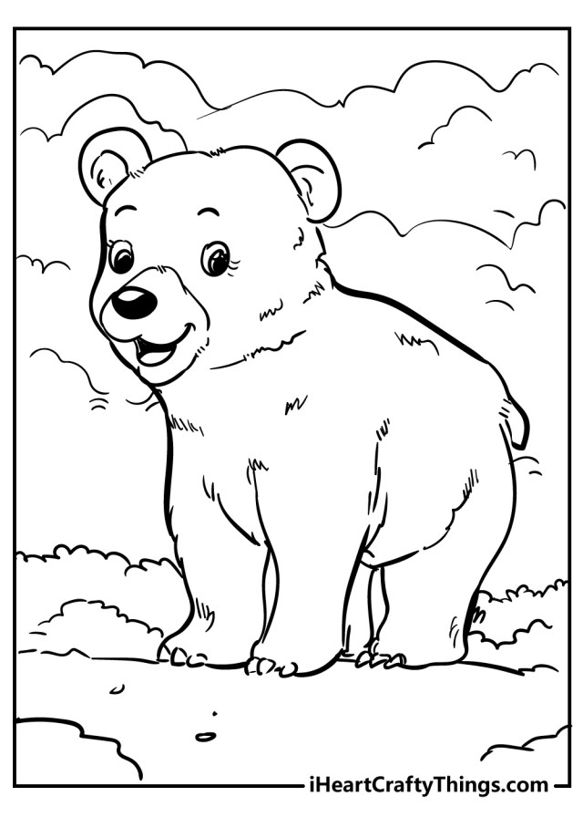 Bear Coloring Pages (Updated 27)