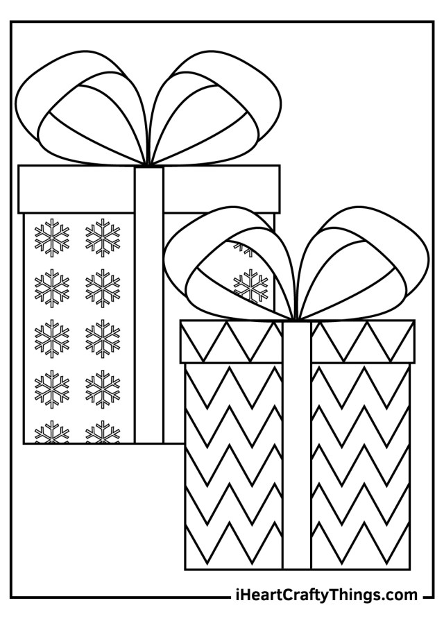 Christmas Present Coloring Pages (Updated 18)