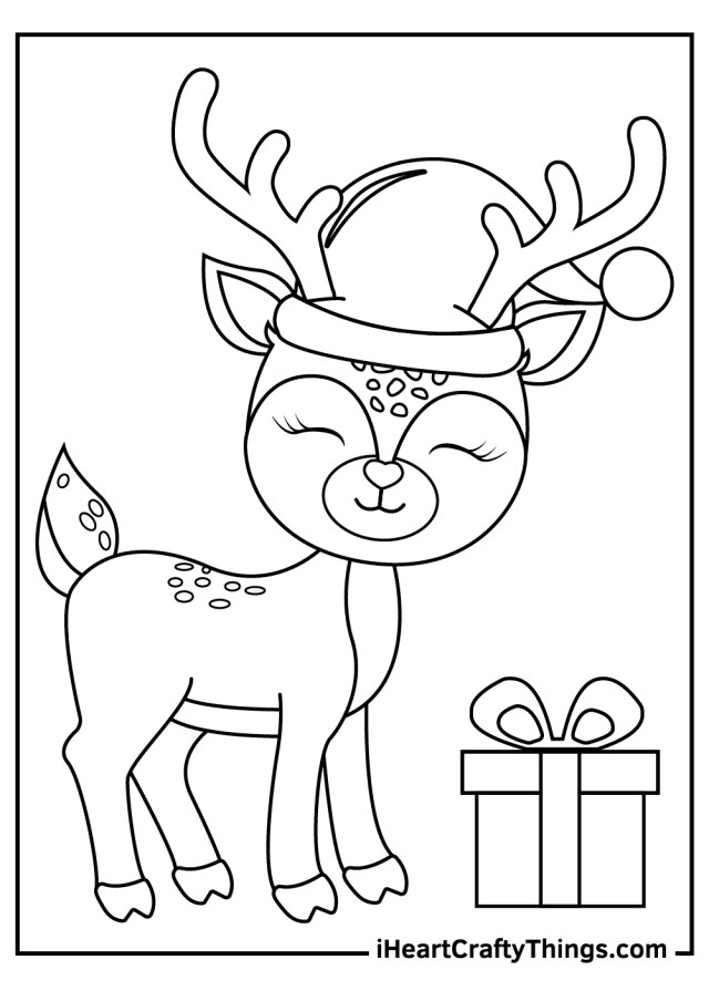 Christmas Reindeers Coloring Pages (Updated 21)