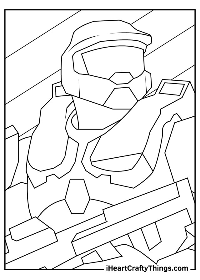 Halo Coloring Pages (Updated 29)