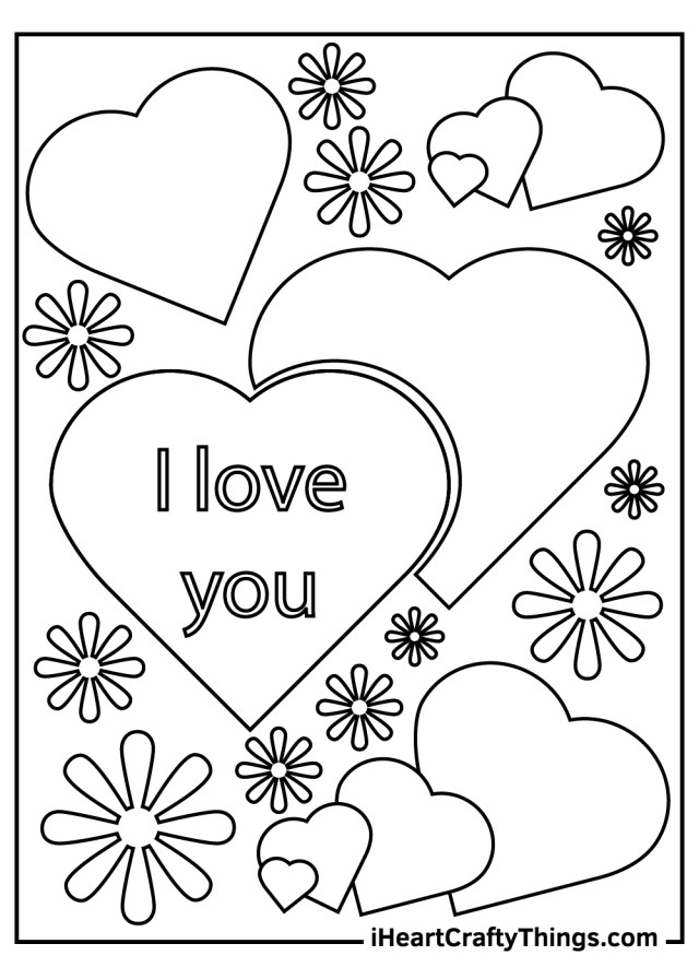 I Love You Coloring Pages (Updated 15)