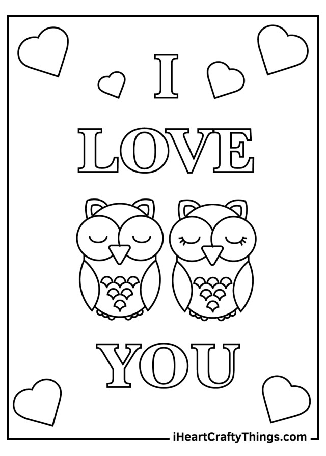 I Love You Coloring Pages (Updated 6)
