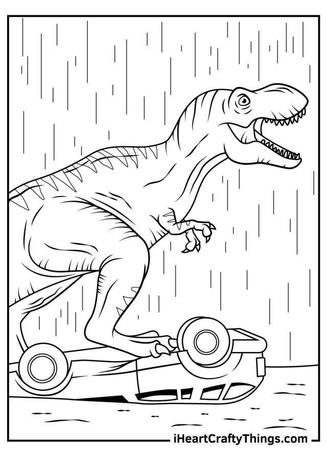 Printable Jurassic Park Coloring Pages (Updated 26)