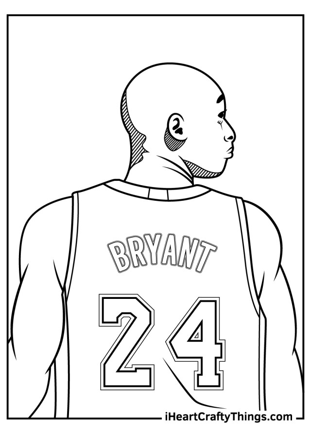 Printable Kobe Bryant Coloring Pages (Updated 20)