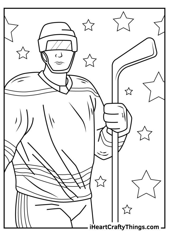 NHL Coloring Pages (Updated 16)