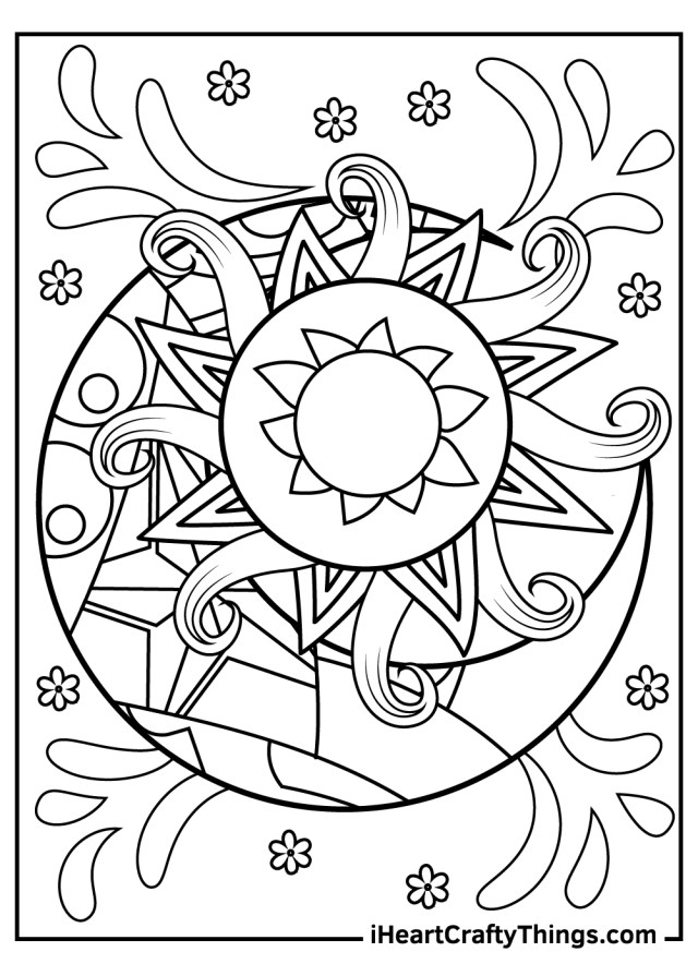 Sun And Moon Coloring Pages (Updated 12)