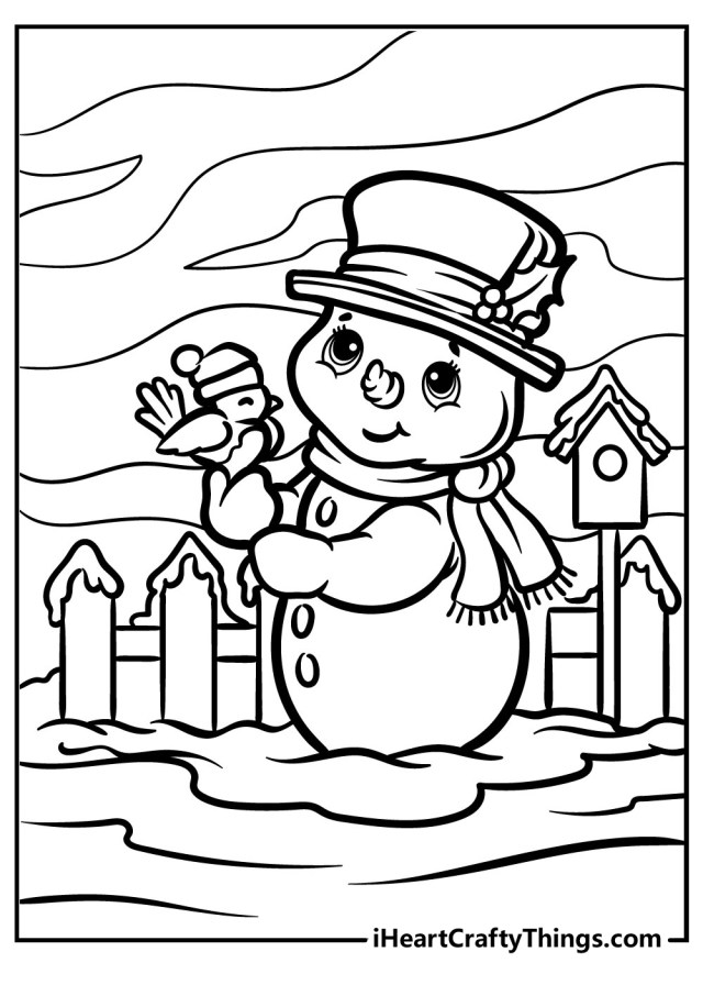 Snowman Coloring Pages (Updated 12)