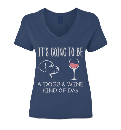 Dogs & Wine Day V-Neck