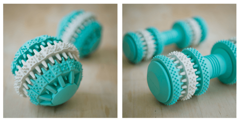 Fresh Mint Scented Brushing Ball and Brushing Bone by Project Play™