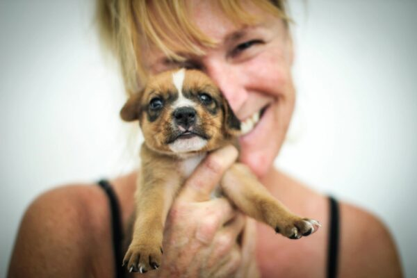 Alison holding puppy