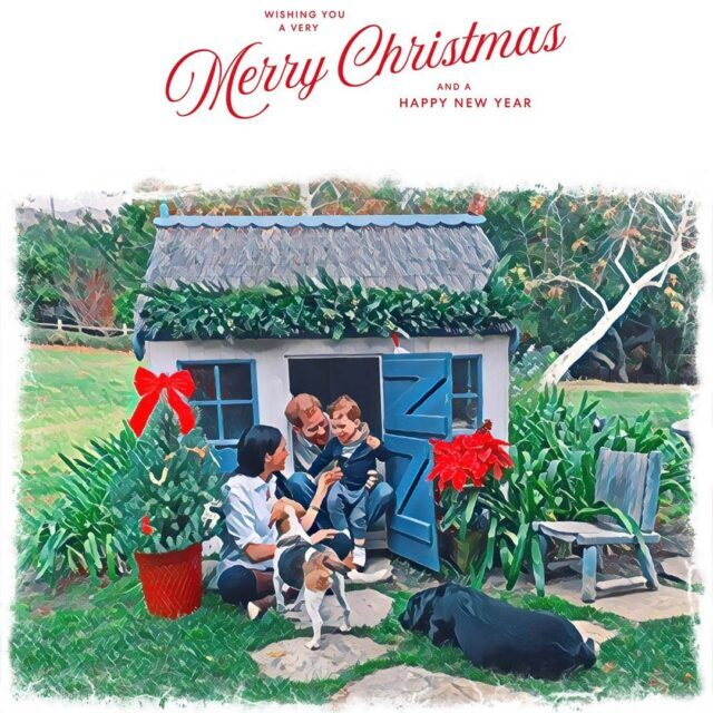 Meghan Markle Christmas card