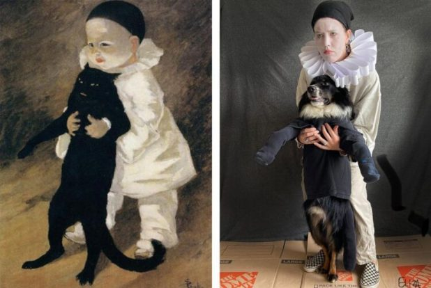 Pierrot and the cat recreated