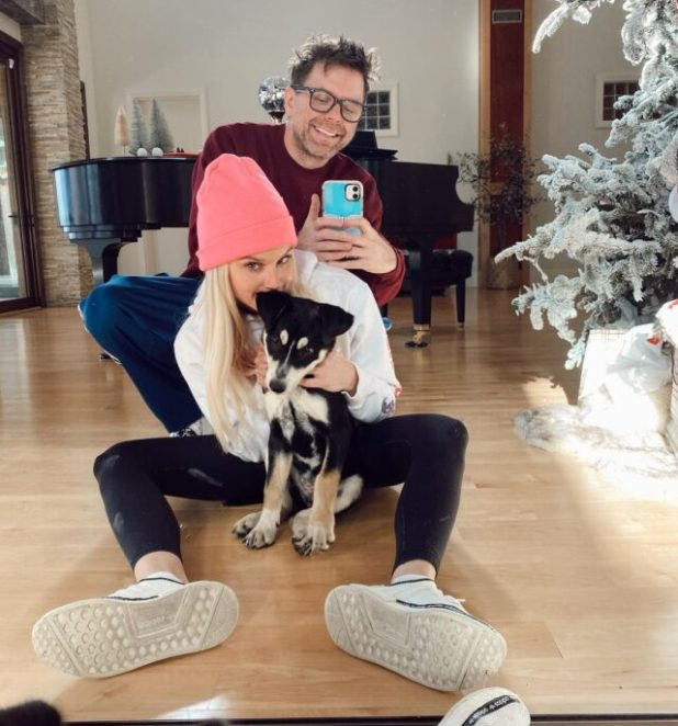 Bobby Bones and Caitlin Parker puppy