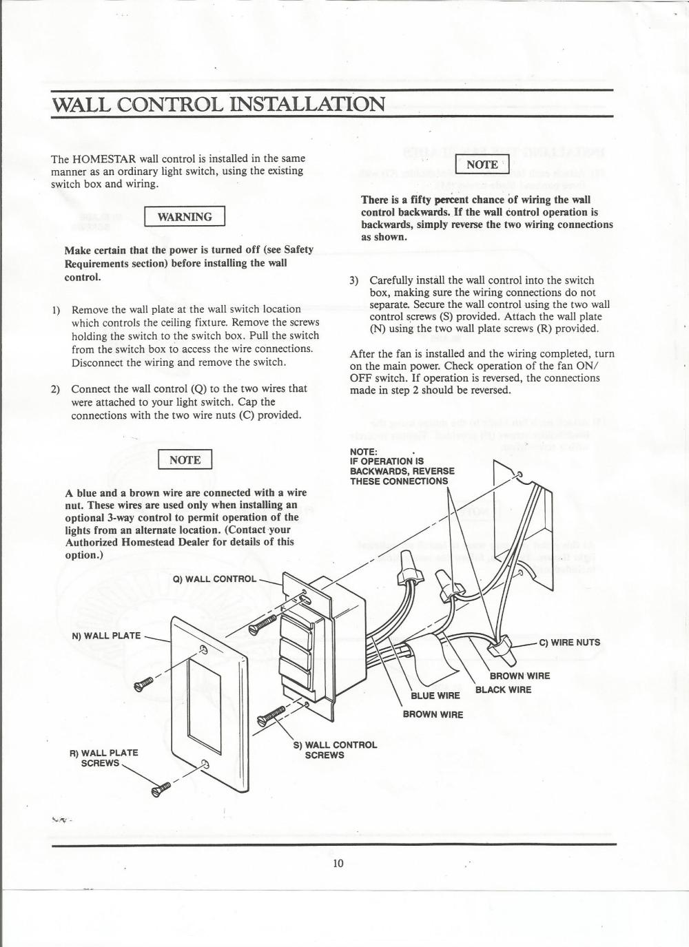 medium resolution of homestead homestar manual homestead ceiling fan wiring diagram