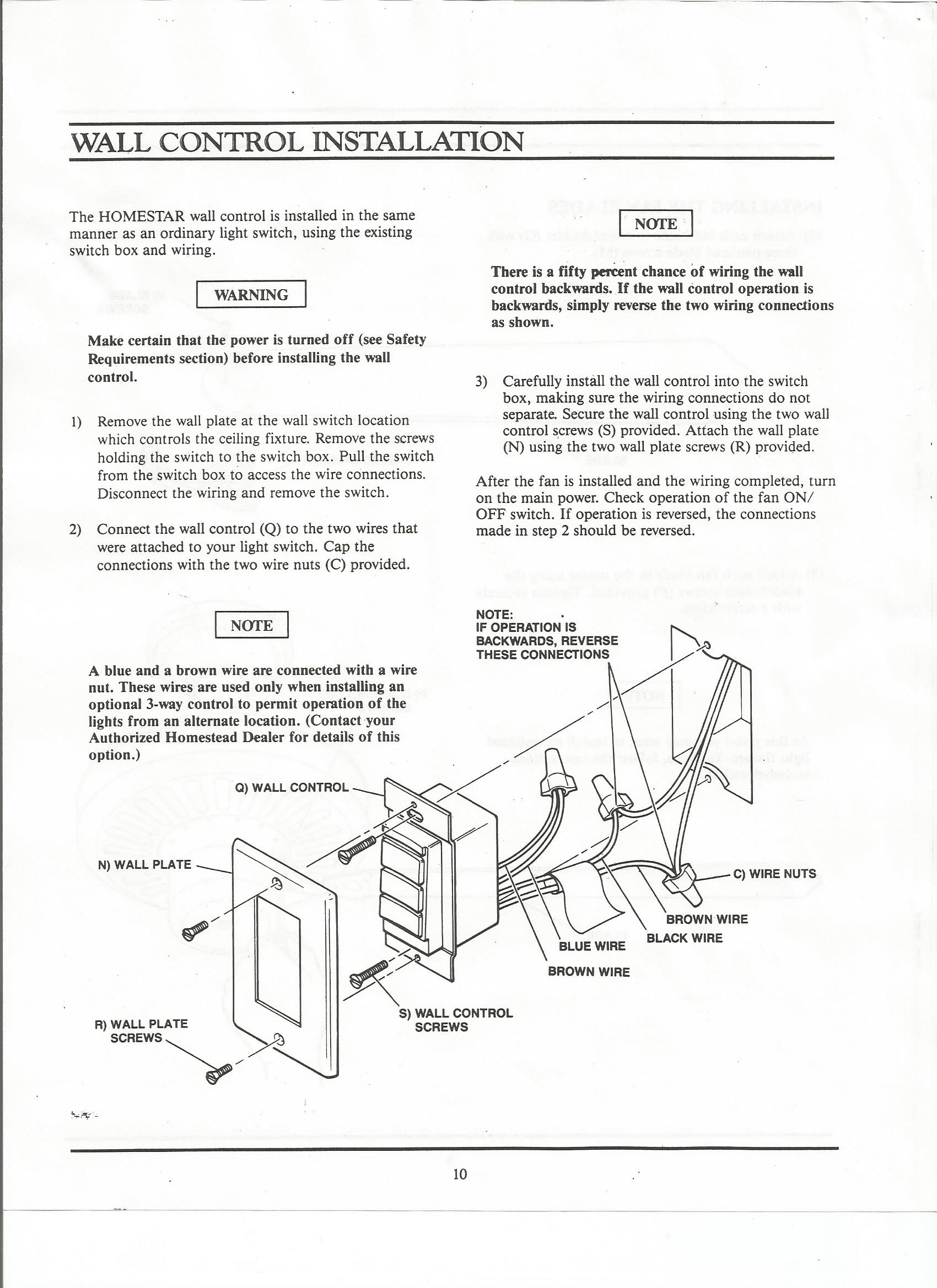 hight resolution of homestead homestar manual homestead ceiling fan wiring diagram