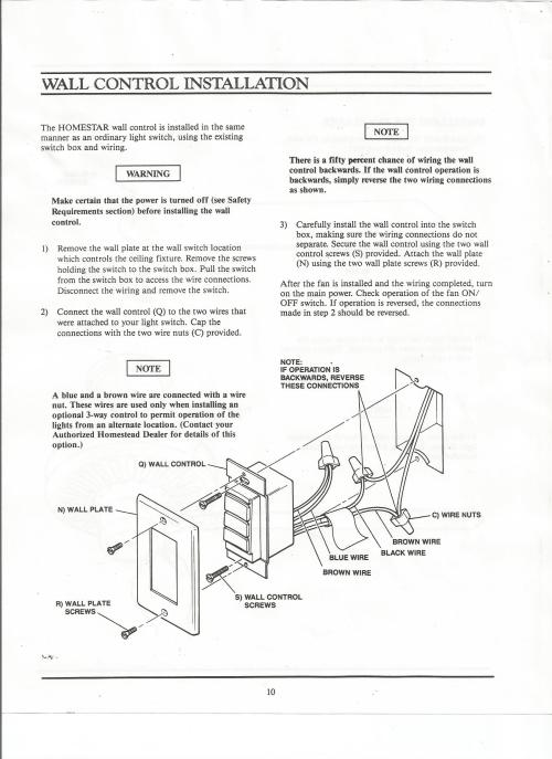 small resolution of homestead homestar manual homestead ceiling fan wiring diagram