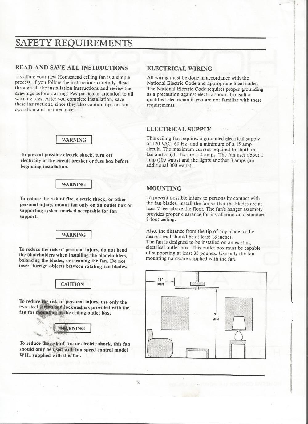 medium resolution of homestead homestar manual ceiling fan wiring blue wire homestead ceiling fan wiring diagram