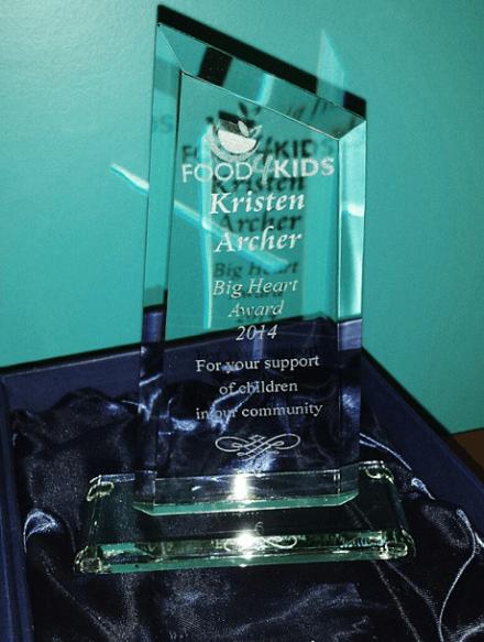 """Food4Kids """"Big Heart Award"""""""