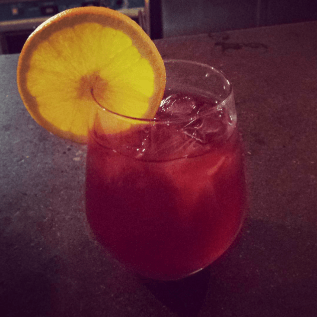 One of Mulberry Coffeehouse's summer cocktails