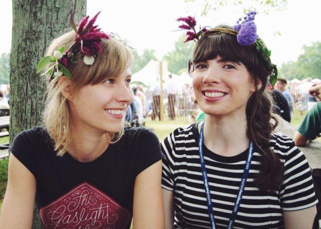 Lisa Vuyk and Kristin Archer at Harvest Picnic 2015