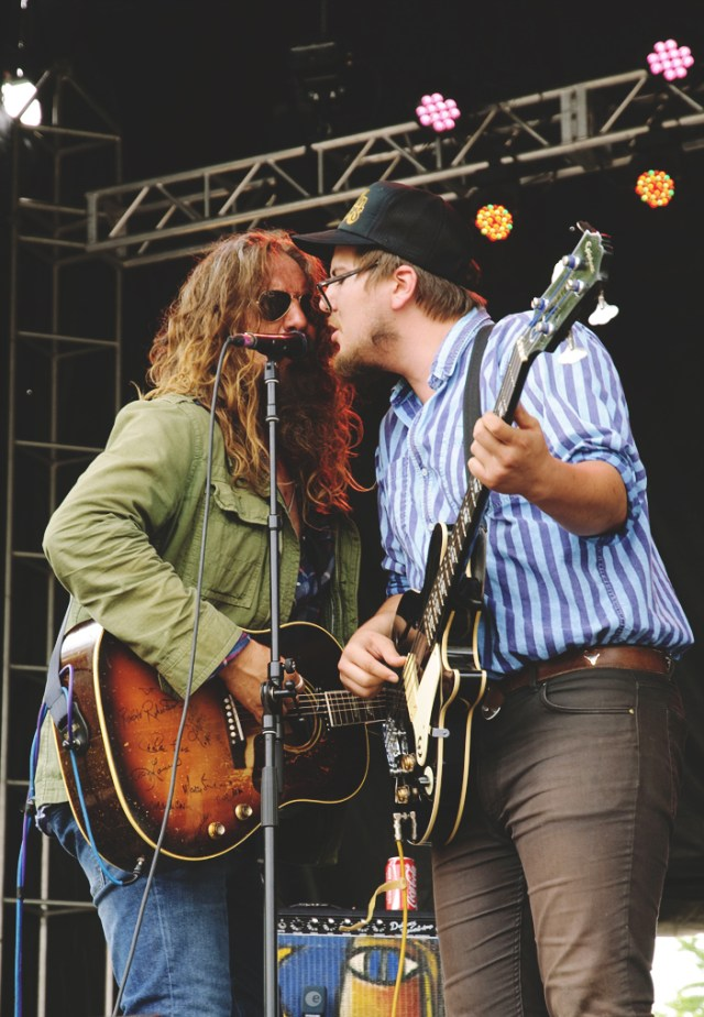 Tom Wilson and Thompson Wilson performing at Harvest Picnic 2015