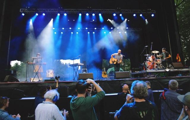 The Rural Alberta Advantage performing at Harvest Picnic 2015