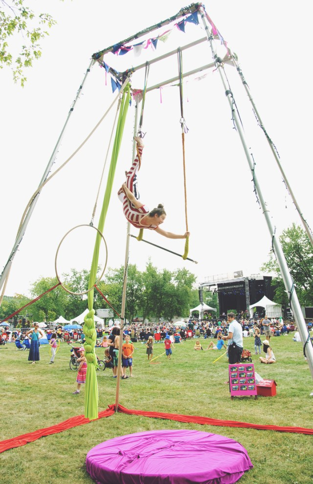 Hamilton Aerial Group performing at Harvest Picnic 2015