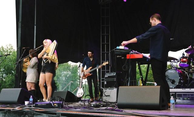 Basia Bulat performing at Harvest Picnic 2015