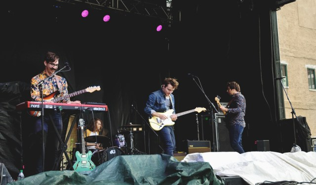 The Elwins performing at Supercrawl 2015