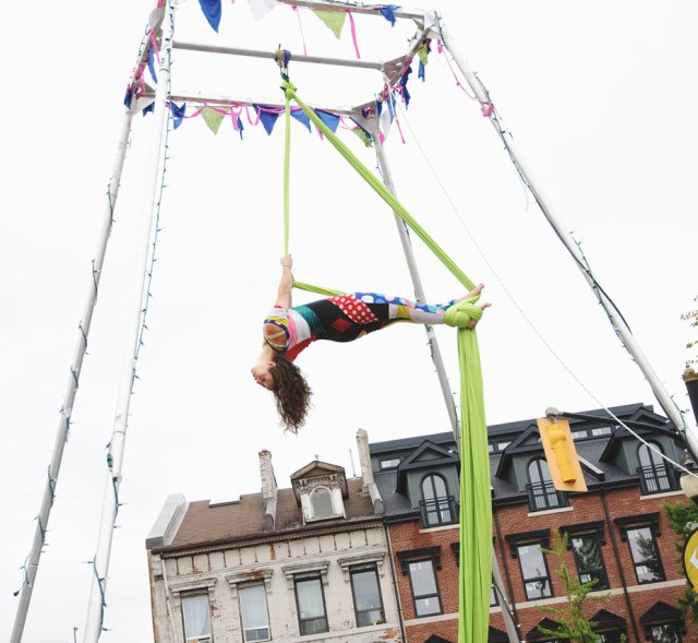 Hamilton Aerial Group performing at Supercrawl 2015