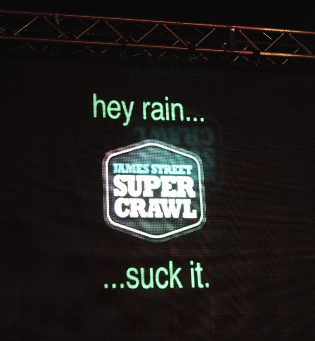 Screen at the main stage at Supercrawl 2015.