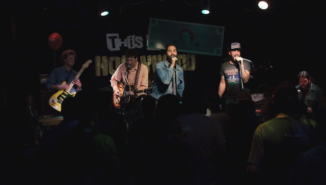 Harlan Pepper performing their last show at This Ain't Hollywood