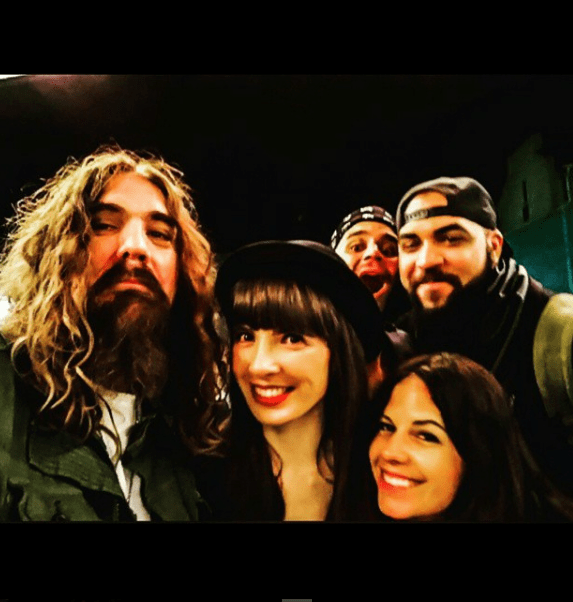 With Tom Wilson, Hachey the MouthPEACE, Buckeye Red, Melissa Marchese. Photo by Tom Wilson