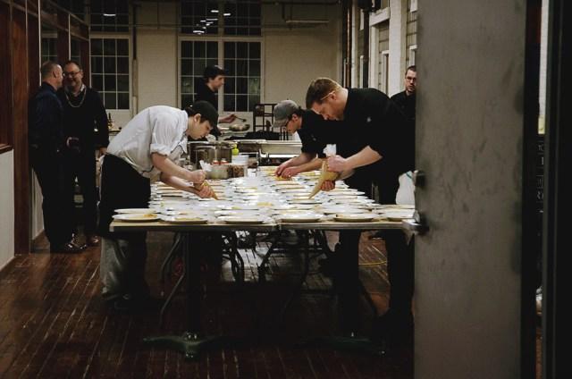 Aberdeen Tavern team working at Pop Up Hamilton's Mardi Gras at The Cotton Factory. Photo by Lisa Vuyk
