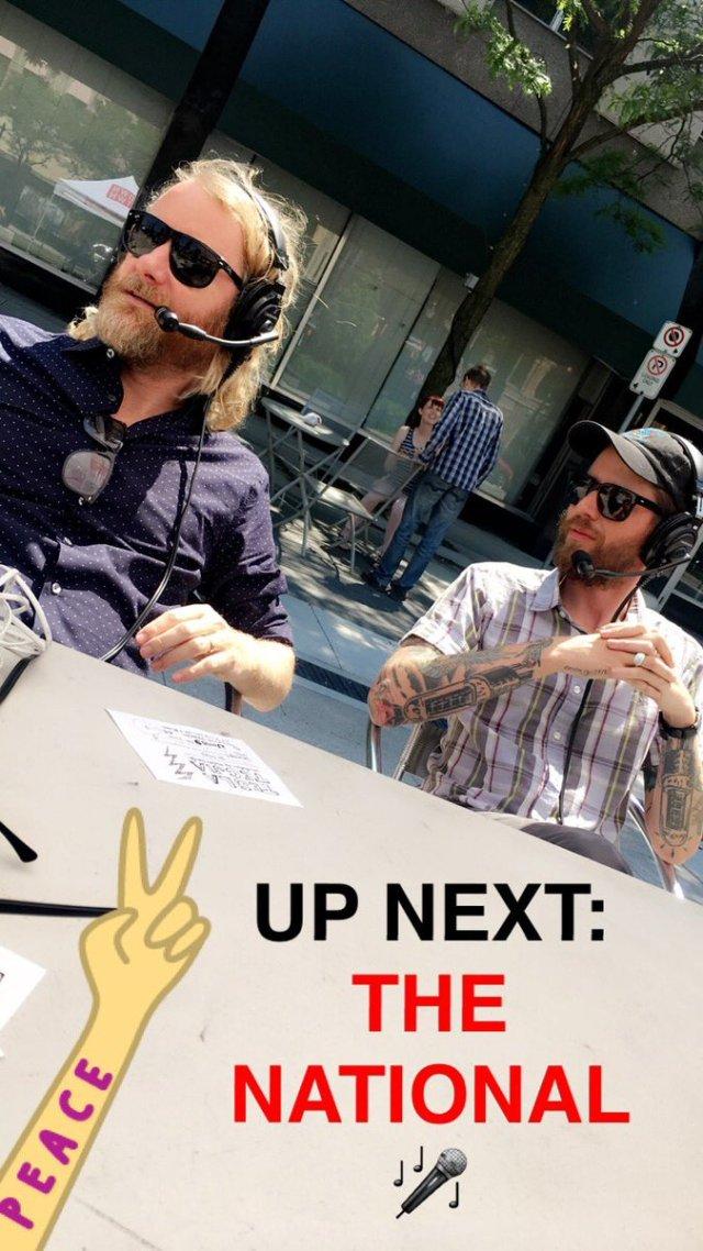 Matt Berninger of The National and their manager Brandon Reid