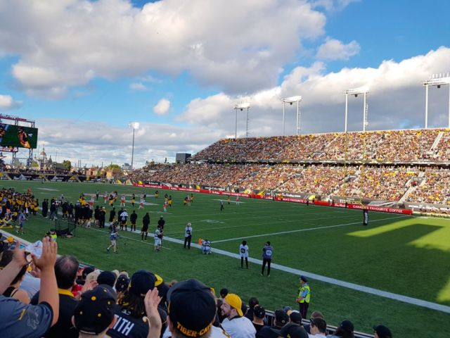 TiCats Home Opener at Tim Hortons Field. July 1, 2016
