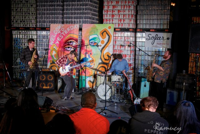 Haolin Munk performing at Sofar Sounds