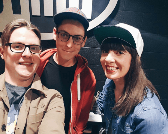 Luke Brown, Nicholas Wallace and Kristin Archer