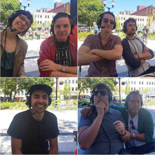 Hanna Bech and Rob Wolanski; Justin and Lorant of The Bandicoots, Tej Sandhu of Merit; Matthew Surina and Manolis Zontanos