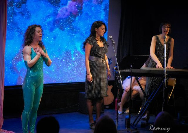 Pamela, Radha, Hanna performing at Queens of Quirk